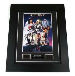 BEETLEJUICE SIGNED PREPRINT FILM CELLS Movie Memorabilia FRAMED COLLECTORS ITEM
