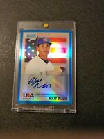 2010  BOWMAN CHROME  1st MATT OLSON RC BLUE REFRACTOR #'d/99 AUTO GEM MINT 10?$