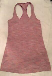 LULULEMON pretty pink tank top, Ladies 6 (Au 10)