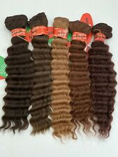 "100% Human Hair French Wave Weave Bundle - 18"" By Sepia - CLOSEOUT DEAL"