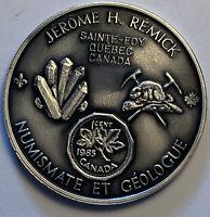 1985 CANADA NUMISMATE ET GEOLOGUE JEROME H. REMICK ST FOY QUEBEC (MR)