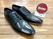 IKON ORIGINALS // Howard // Mens Black Brogues Shoes // NEW.