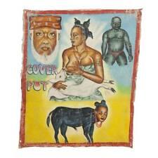 ORIGINAL AFRICAN MR BREW MOVIE POSTER PAINTING FLOUR SACK GHANA WEST AFRICA