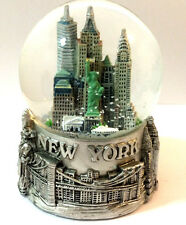 Silver New York City Snow Globe 3.5 Inch (65mm) Skylines & Statue liberty WG198