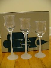Partylite Clear Glass Votive Candle Holders 3 tier Frosted Stems and Base P9248
