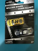 Nascar Diecast William Byron/Chase Elliott 1:87 Nascar Authentic 2 Pack Wave 2