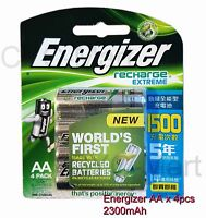 Energizer AA x8 NiMH 2300mAh rechargeable batteries Made in Japan