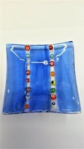 vt-6167-1-2-A. eine kleine Schale  9 x 9 cm.mit  Millefiori aus Glas