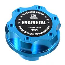Blue Billet Black Engine Oil Anodized Oil Cap Filler For GM Chevy Buick Cadillac