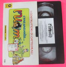 VHS film I COSTRUTTORI DI CATTEDRALI C'era una volta l'uomo (F107) no dvd
