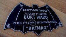 CUSTOM 1966 ROBIN BATARANG DISPLAY NAME PLATE BATMAN TV SERIES