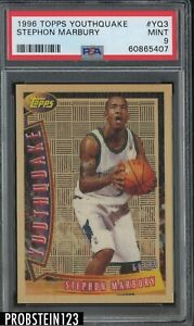 1996 Topps Youthquake #YQ3 Stephon Marbury Timberwolves RC Rookie PSA 9 MINT