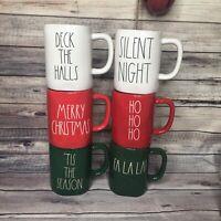 Rae Dunn Red White Green 6 Mugs CHRISTMAS 2019