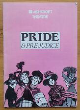 Jane Austen Pride and Prejudice programme Ashcroft Theatre 1988 Leslie Phillips