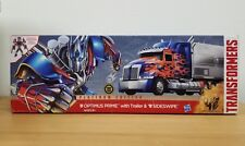 Transformers AGE of Extinction Platinum Edition Optimus Prime Trailer Sideswipe