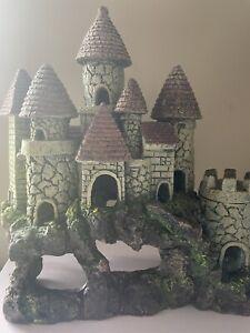 Large Fish Tank Decoration, Castle Ruins (slight discoloration)
