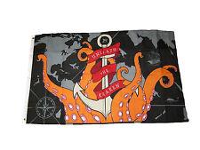 3x5 Jolly Roger Pirate Davy Jones Unleash The Kraken Flag 3'x5' Banner Grommets