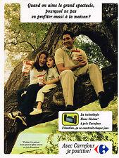 PUBLICITE ADVERTISING 025  1998  MAGASINS CARREFOUR  Home- cinéma