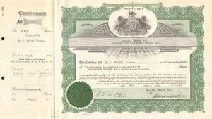 Acadia Press, Inc. > 1962 Pennsylvania Academic Press stock certificate share