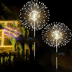150 LED Solar Firework Lights Waterproof Outdoor Path Lawn Garden Decors Lamp