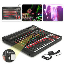 Professional 8/12 Channels Analogue Mic Line Audio Mixer Console Phantom Power