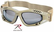 Coyote Brown Ventec Adjustable Tactical Goggles Rothco Padded Eyewear Protection