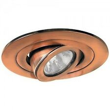"4"" Gimbal Low Voltage Trim Lighting Recessed Ring COPPER"