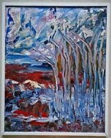 quadro olio su tela arte pittura astratta Perocchio Giovannino, XX sec 70x60