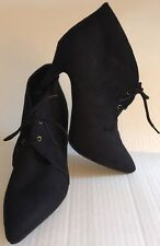 Women's Ankle Boots High Heel Black Ollio Size 8.5 Style ZM10914-1