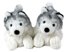 Husky Animal Slippers - Siberian Husky Dog Slippers - for Men & Women