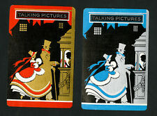US VF Pair of Talking Pictures Art Deco Playing Cards