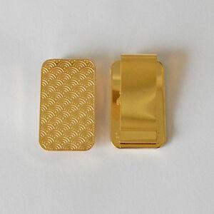 Gold Bar Money Clip Wallet Clips 24k Gold Plated Money Holder