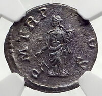 SEVERUS ALEXANDER Authentic Ancient 222AD Silver Roman Coin FORTUNA NGC i72770