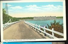 Keokuk,Iowa-Power House And Dam-From Illinois Side-Linen-(Misc-63)