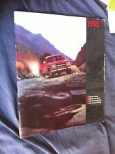 1992 Chevy Chevrolet  C10 C20 C30 Silverado Pickups Brochure Catalog Prospekt