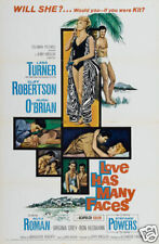 Love has many faces Lana Turner vintage movie poster