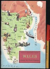 1964 WALES Around the World Text & Stickers Book 64 pages Collectable
