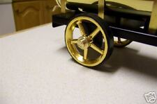 CJW Steam *BRASS HUBCAPS & STEEL AXLE*  Wilesco Water Cart LIVE STEAM