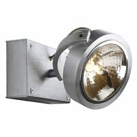 KALU 1 wall and ceiling luminaire, alu-brushed, QRB111, max. 50W