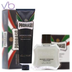 PRORASO Blue Shaving Cream + After Shave Balm - Aloe, Vitamin E, Made In Italy!
