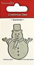 DOVECRAFT SMALL STEEL CUTTING DIE - CHRISTMAS WINTER - SNOWMAN