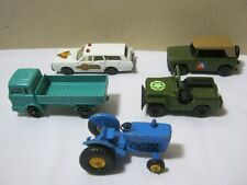 Matchbox Vtg. Diecast Toy Car & Lesney Tractor Lot of 5   T*