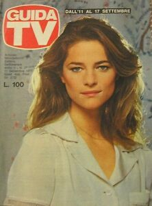 GUIDA TV 1977 N.37 CHARLOTTE RAMPLING YVES MONTAND CANTANTE MILVA TV PRIVATE