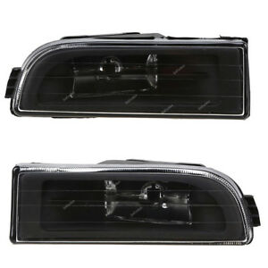 Pair Front Bumper Fog Light Lamp For BMW E38 7-Series 1995-01 740i 750iL