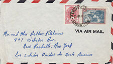 Worldwide stamps, 1946 Argentina airmail cover to US