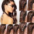 Fashion Braids Hair Clip Shell Hamsa Hand Fatima Cross Leaves Star Rings Set 5
