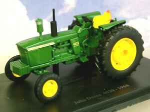 SUPERB U/H HACHETTE DIECAST 1/43 1968 JOHN DEERE 4020 DIESEL TRACTOR GREEN TR34
