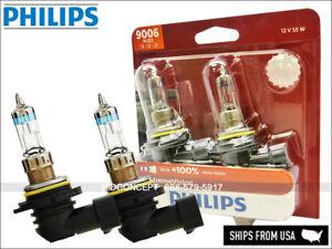2x New Gen! 9006 HB4 PHILIPS X-treme Vision +100% bulbs 9006XVB2 DOT 12V 55W TWO