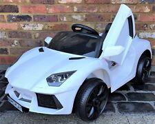 Kids Lamborghini Aventador Style Roadster 12V Battery Electric Ride on Car White