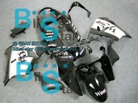 Black ABS Fairing Bodywork Plastic Kit Kawasaki Ninja ZX-9R 2002-2003 008 D2